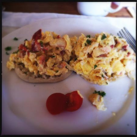 Lobster scrambled eggs - amazing! - Picture of 1774 Inn, Phippsburg ...