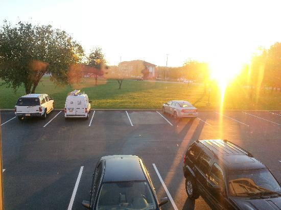 Hampton Inn Exton : View from room; car park