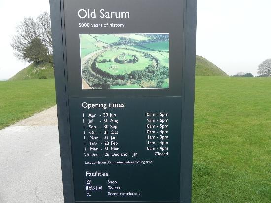 Old Sarum: Sign post