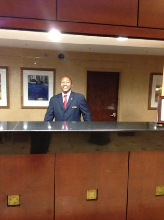 Marriott Nashville Airport: James Stevenson - Welcomes you with a smile!