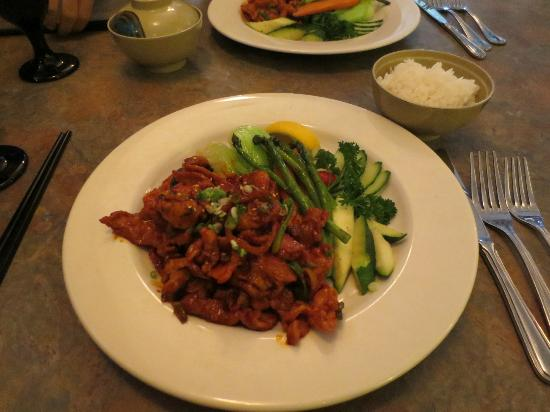 jae's asian bistro: Spicy Korean Pork...Delicious!