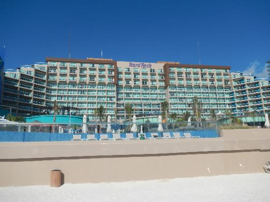 Hard Rock Hotel Cancun View Of The From Beach