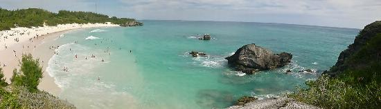 Horseshoe Bay Beach: Panoramic view from the rocks...