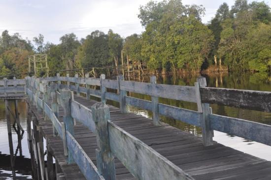 Palangkaraya, Indonesië: Tahai lake bridge