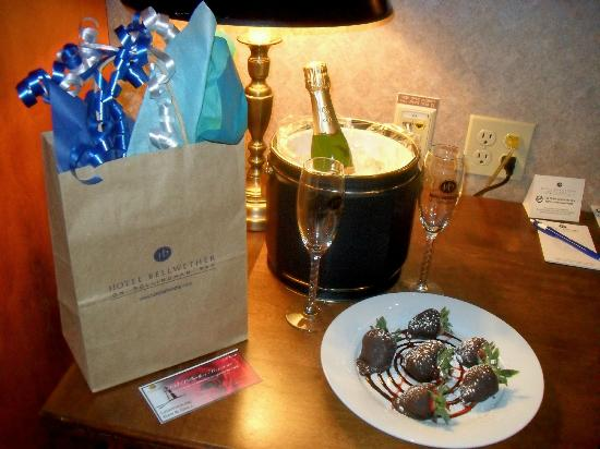 "Hotel Bellwether: our ""welcome"" treat for our anniversary"