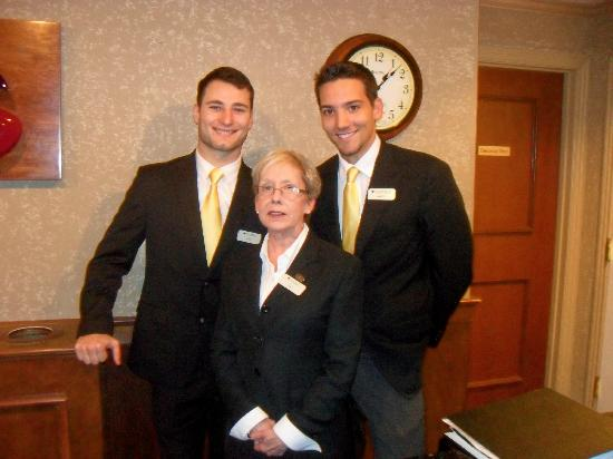Hotel Bellwether: Andrew, Teri and Sean, three amazing front desk staff