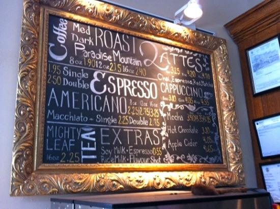 Vendome Cafe : Every sort of coffee imaginable