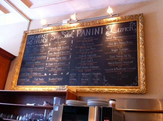 Vendome Cafe : Great menu