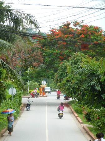 Sofitel Luang Prabang Hotel: Вид из ворот отеля
