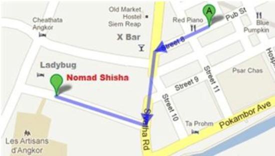 Nomad Shisha Bar: Map