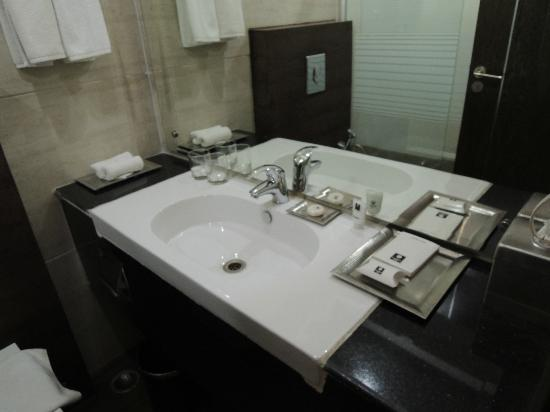 Comfort Inn Anneha & ZO Rooms: Bathroom sink