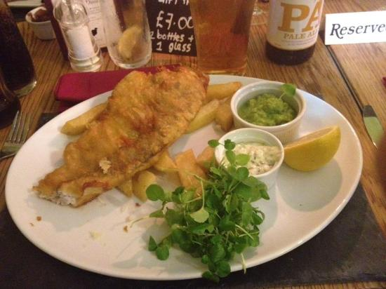 The Pheasantry Brewery: Fish & Chips partly devoured!