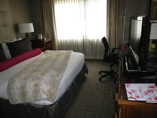 Kimpton Hotel Palomar Washington DC: Blick vom Eingangsbereich ins Zimmer.