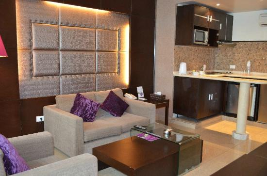 Lavender Home Furnished Apartments: Seating area