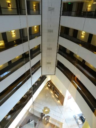 Hyatt Regency Kiev: Viev from the elevators