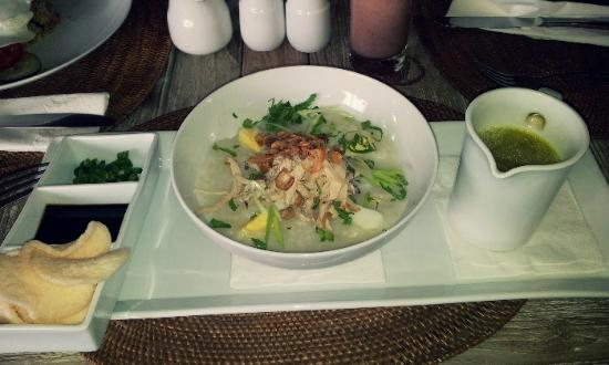 The Dipan Resort Petitenget: Chicken Congee (when I was sick) was surprisingly tasty and appetitizing