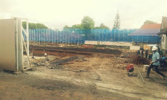 The Dipan Resort Petitenget: Construction from next site