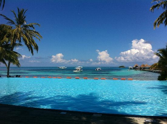 Club Med Kani: Infinity pool, in a beautiful day