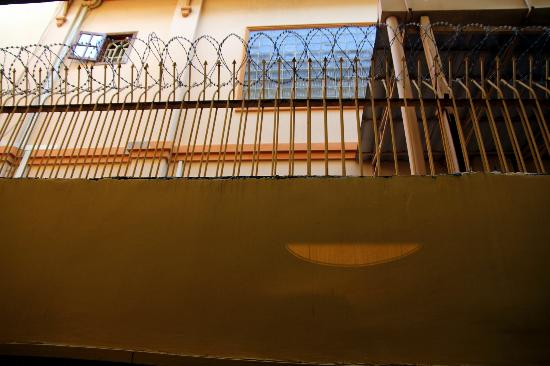 Villa Samnang Boutique Hotel: Vue de la chambre... déprimant...