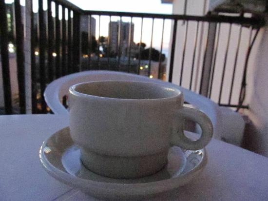 The Lis: Morning coffee on balcony