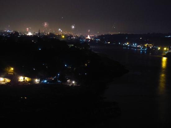 Rishikesh on the diwali night as seen from terrace for Terrace jhula