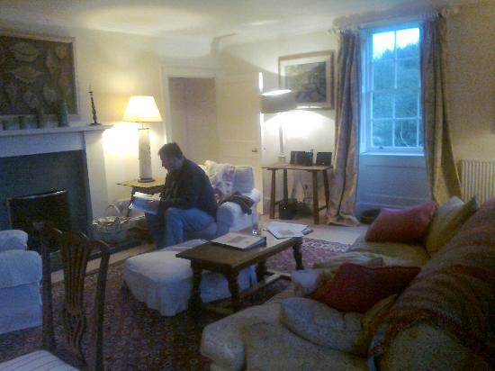Restormel Manor & Cottages: the cosy drawing room