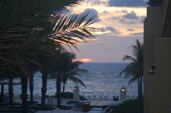 The Westin Dawn Beach Resort & Spa, St. Maarten: View from the room at sunrise