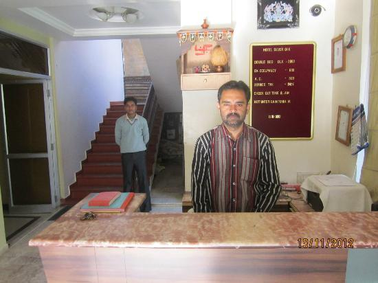 Hotel Silver Oak - The Manager Mr. Sanjay on Reception