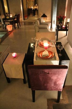 Riad Dar One: Ready to dine in the riad