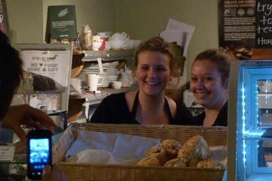 Easter Peel Farm Coffee & Crafts: The lovely warm welcome from the team.