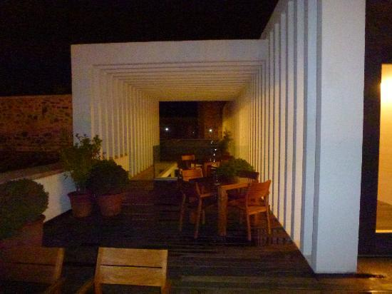 Atrio Restaurante Hotel Relais & Chateaux: Night time on the roof