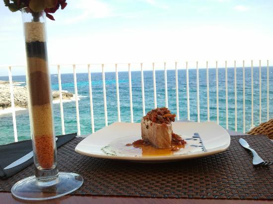 Taberna del Corso: Tournedo de Bonito Plancha con Salsa de Pommodoro Secchi y Piñones