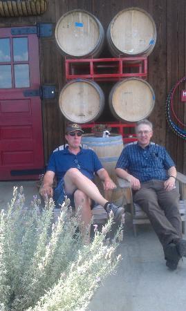 Oregon Wine Tours: Bob enjoys wine too!