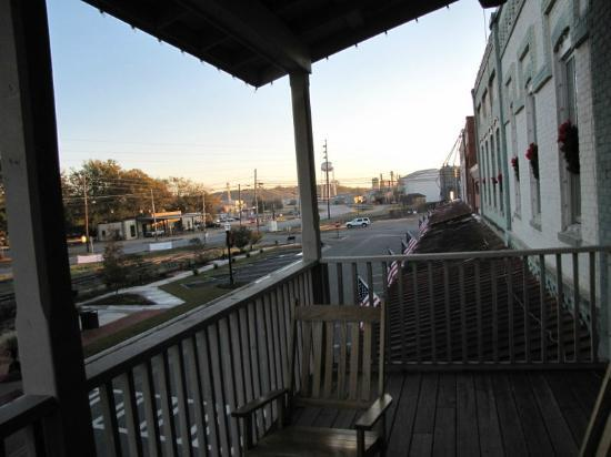 Plains Historic Inn: View from the common balcony 
