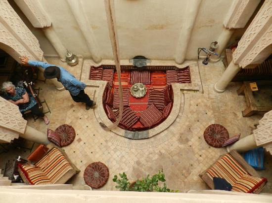 Riad Laksiba: Sunken tea oasis. (Never judge a Riad by It's front door!)
