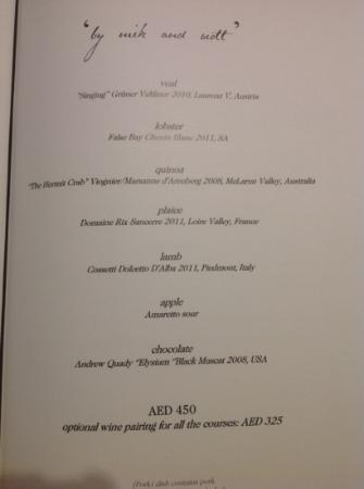 Menu By Nick And Scott Picture Of Table Dubai TripAdvisor - Table 9 menu