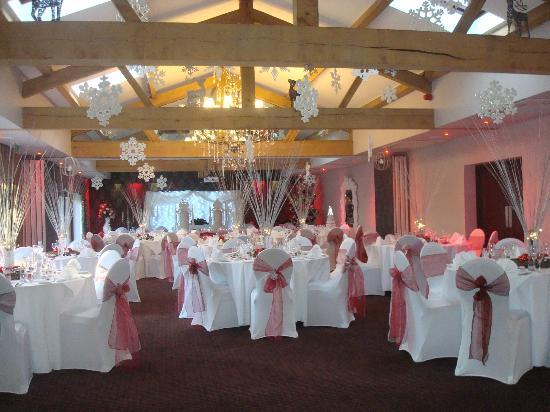 Ashbourne Hotel: My friends room amazingly set up just like a winter wonderland
