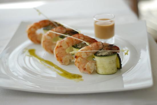 Restaurant Nicolas Juste : Gambas et courgette