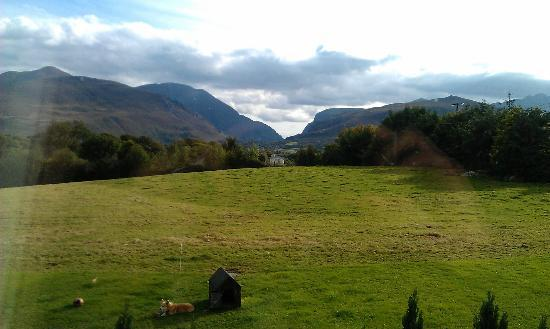 Inveraray Farm Guesthouse: view from our room (#14) on the 1st floor