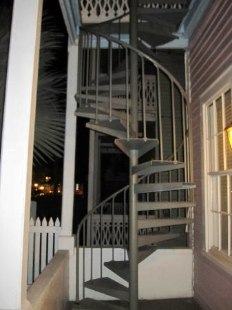 Cypress House Hotel : Key West: Stairs to 2nd floor outside room 11