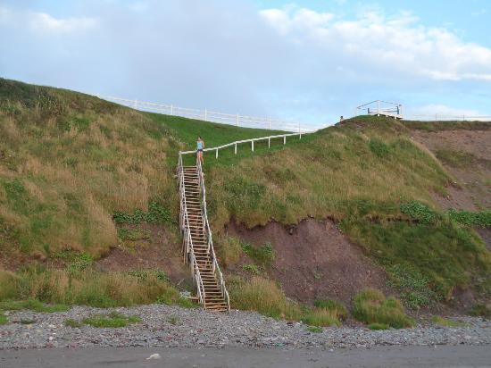 Bird Island Resort: The stairs down to the beach