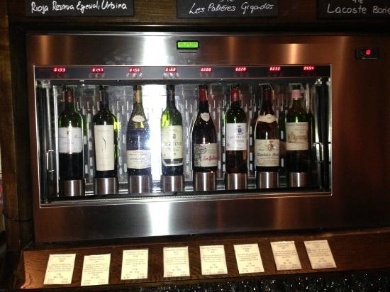 """The Kensington Wine Rooms : One of the """"Vending Machines"""""""