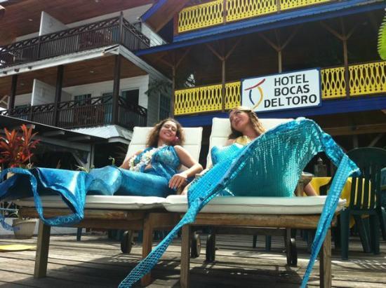 Hotel Bocas del Toro Restaurant : Mermaids at Bocas del Toro Restaurant & Bar