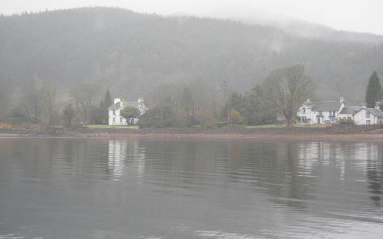 The Shore House: View of The Sore House Inn from across the loch