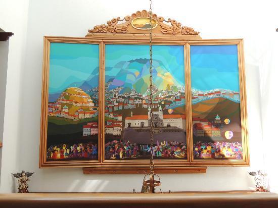 Hotel El Relicario del Carmen: Lobby Mural