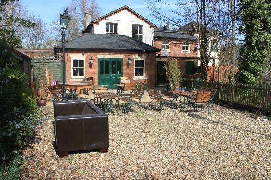 The Willow Tree: Feb 2012, prior refurb and decorating the garden when new owners took it on