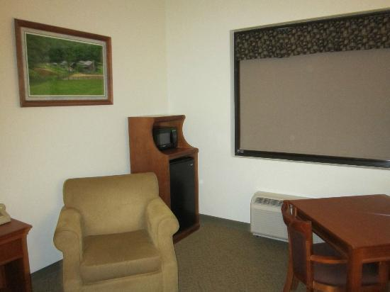 Twin Falls State Park: One corner of our room.