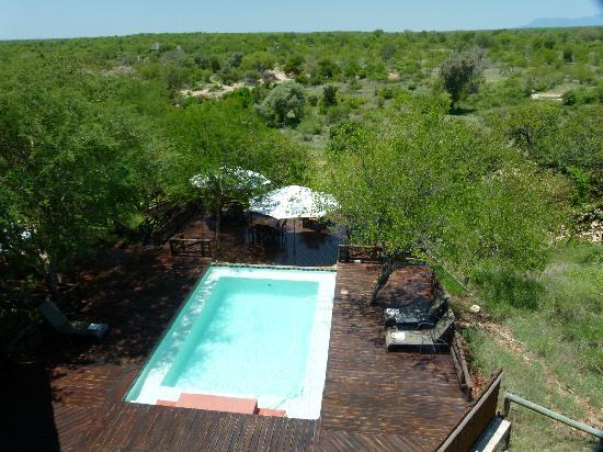 Naledi Game Lodges: View from the upper deck at Bushcamp