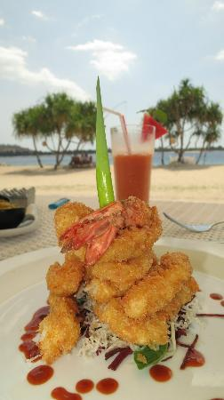 MAHAMAYA Boutique Resort: Prawn tempura