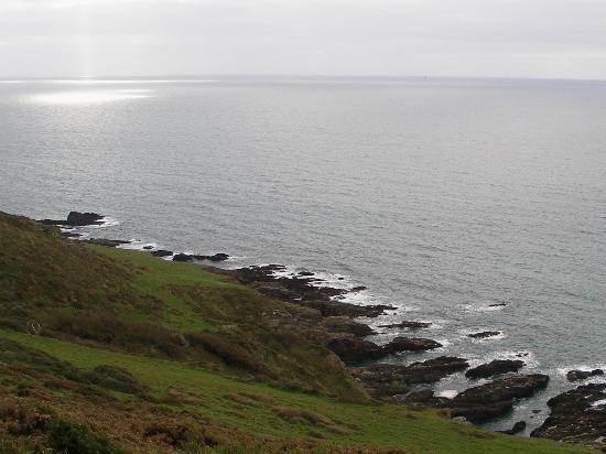South West Coast Path National Trail: coast path near noss mayo